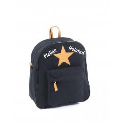Smallstuff sort stjerne børnetaske med navn på