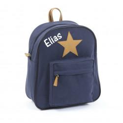 Smallstuff mørkeblå stjerne junior taske med navn på