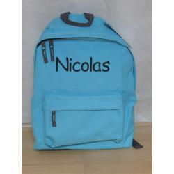 Tyrkisblå junior taske med navn på