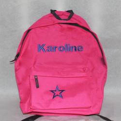 Pink skole rygsæk med navn på