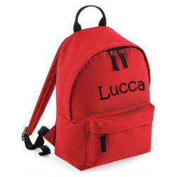Rød børne taske med navn på