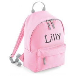 Lyserød børne taske med navn på