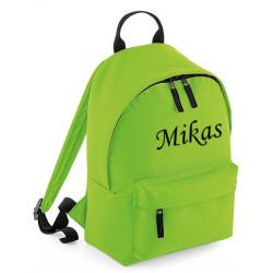 Limegrøn børne taske med navn på