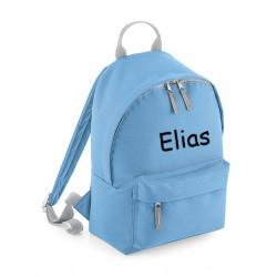Lyseblå børne taske med navn på