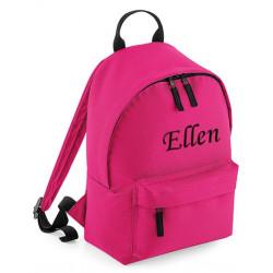 Pink børne taske med navn på