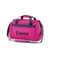 Pink Sports taske med navn på